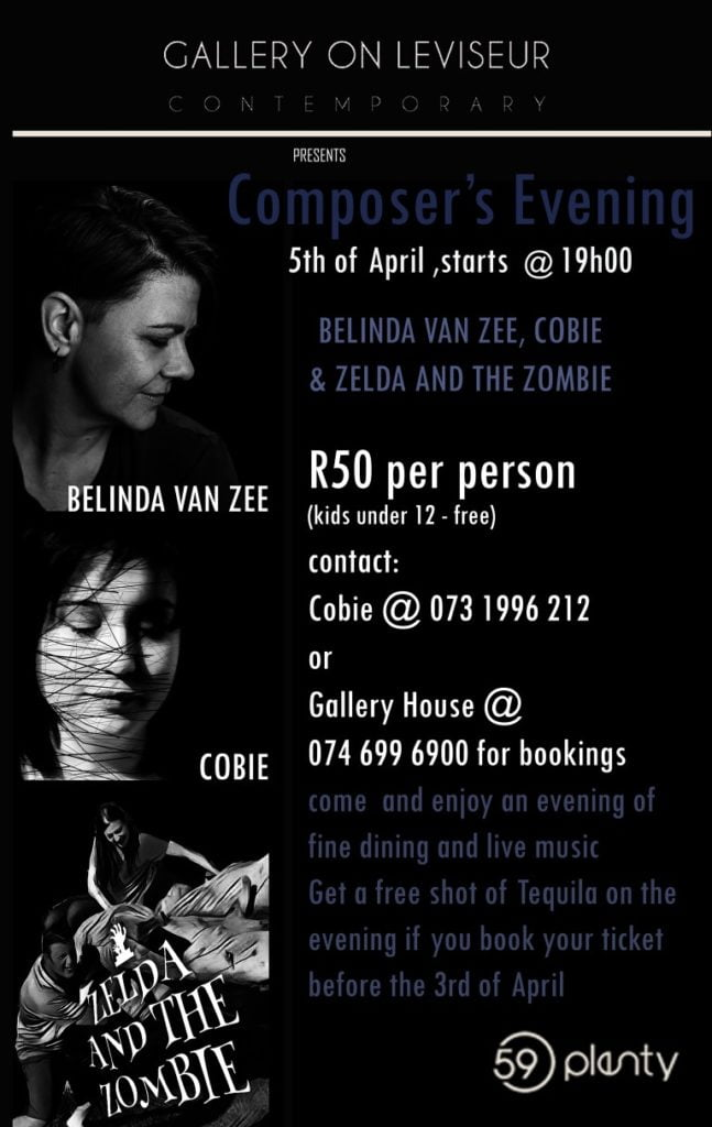 Cobie performs in Bloemfontein at 59 Plenty on the 5th April
