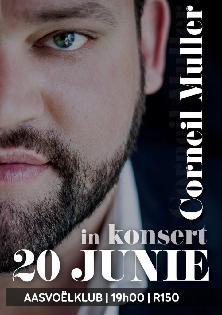 Corneil Muller in concert on the 20th June